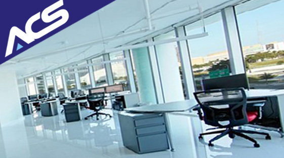 Cleaner cleaning an office - Alliance Cleaning Services Perth Western Australia